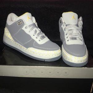 New Nike Jordan Air Force 3 grey high top sneakers